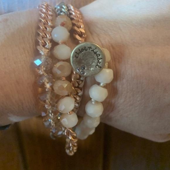 Chloe + Isabel Jewelry - Chloe + Isabel Bead Chain Multi Wrap Bracelet-Pink